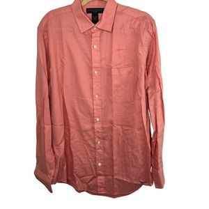 Banana Republic Relaxed Fit Button Front Shirt L